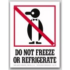 "4x6"" International Labels Do Not Freeze Or Refrigerate 500/rl"