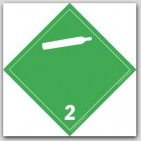 Gases Class 2 Self Adhesive Vinyl Placards 25/pkg