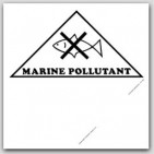 Removable Vinyl Placards Printed Marine Pollutant 25/pkg