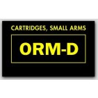 "1-1/2x2-1/2"" Labels ORM-D Cartridges, Small Arms 1000/rl"