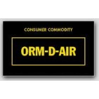 "1-1/2x2-1/2"" Labels ORM-D-AIR Consumer Commodity 1000/rl"