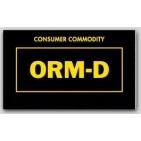 "1-1/2x2-1/2"" Labels ORM-D Consumer Commodity 1000/rl"