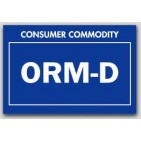 "2x3"" Labels ORM-D Consumer Commodity 1000/rl"