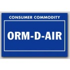 "2x3"" Labels ORM-D-AIR Consumer Commodity 1000/rl"