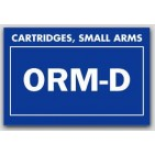 "2x3"" Labels ORM-D Cartridges, Small Arms 1000/rl"