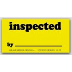 "1-1/4x2-1/2"" Inspected Labels 1000/rl"