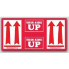 "4-3/8x9"" This Side Up Arrow Labels sheeted pkg of 500"