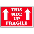 "5x8"" This Side Up Fragile Arrow Labels 1000/rl"