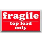 "5-1/2x8-1/2"" Top Load Only Fragile Labels 500/rl"