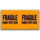 "3x6"" Handle with Care Fragile Labels 250/rl"
