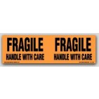 "3x10"" Handle with Care Fragile Labels 250/rl"