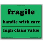 "8x10"" High Claim Value Fragile Labels 500/rl"