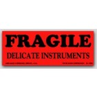 "1-1/2x4"" Delicate Instruments Fragile Labels 500/rl"