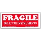 "1-1/2x4"" Fragile Delicate Instruments Labels 500/rl"