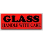"1-1/2x4"" Handle with Care Glass Labels 500/rl"