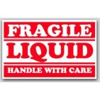 "2-1/2x4"" Liquid Fragile Labels 500/rl"