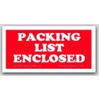 "1-1/2x3"" Packing List Enclosed Labels 500/rl"