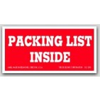 "1-1/2x3"" Packing List Inside Labels 500/rl"