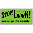 """2x4-1/2"""" Stop Look More Inside Shipping Labels 500/rl"""