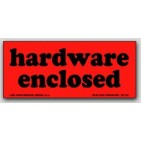 "1-1/2x3-1/2"" Hardware Enclosed Shipping Labels 500/rl"