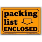 "2x3"" Packing List Enclosed Labels 500/rl"