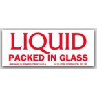 "1x2-1/2"" Liquid Packed In Glass Glass Labels 500/rl"