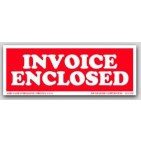 "1-1/2x4"" Invoice Enclosed Labels 500/rl"