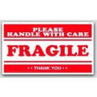 "4x7"" Handle with Care Fragile Labels 500/rl"