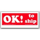 """1-1/2x4"""" Ok to Ship Shipping Labels 500/rl"""