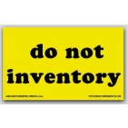 """3x5"""" Do Not Inventory Shipping Labels 500/rl"""