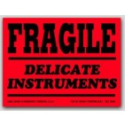 "3x4"" Fragile Delicate Instruments Labels 500/rl"