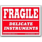 "3x4"" Delicate Instruments Fragile Labels 500/rl"
