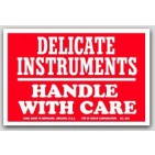"3x4-1/2"" Fragile Delicate Instruments Labels 500/rl"