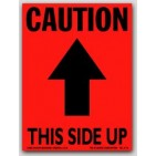 "3x4"" Caution This Side Up Arrow Labels 500/rl"