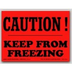 "3x4"" Caution Keep From Freezing Labels 500/rl"