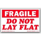 "3x4"" Do Not Lay Flat Fragile Labels 500/rl"