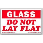 "3x5"" Do Not Lay Flat Glass Labels 500/rl"