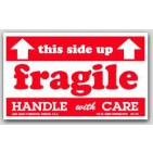 "3x5"" Fragile This Side Up Arrow Labels 500/rl"