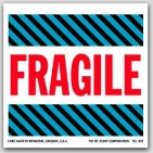 "4x4"" Fragile Labels 500/rl"