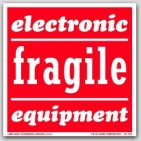 "4x4"" Electronic Equipment Fragile Labels 500/rl"