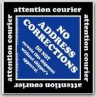"4x4"" No Address Corrections Shipping Labels 500/rl"