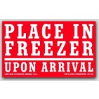 "3x5"" Place In Freezer Upon Arrival Labels 500/rl"