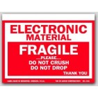 "3x4"" Electronic Material Fragile Labels 500/rl"