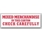"""2x6"""" Mixed Merchandise Shipping Labels 500/rl"""