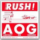 "4x4"" Rush AOG Labels 500/rl"