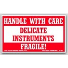 "3x5"" Handle with Care Delicate Instruments Labels 500/rl"