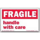 "3x5"" Handle with Care Fragile Labels 500/rl"