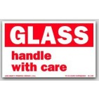 "3x5"" Handle with Care Glass Labels 500/rl"