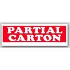 "2x6"" Partial Carton Shipping Labels 500/rl"
