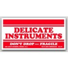 "2-1/2x5"" Handle with Care Delicate Instruments Labels 500/rl"